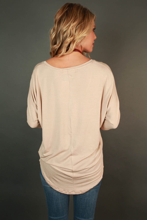 My Time Is Yours Tunic In Birch