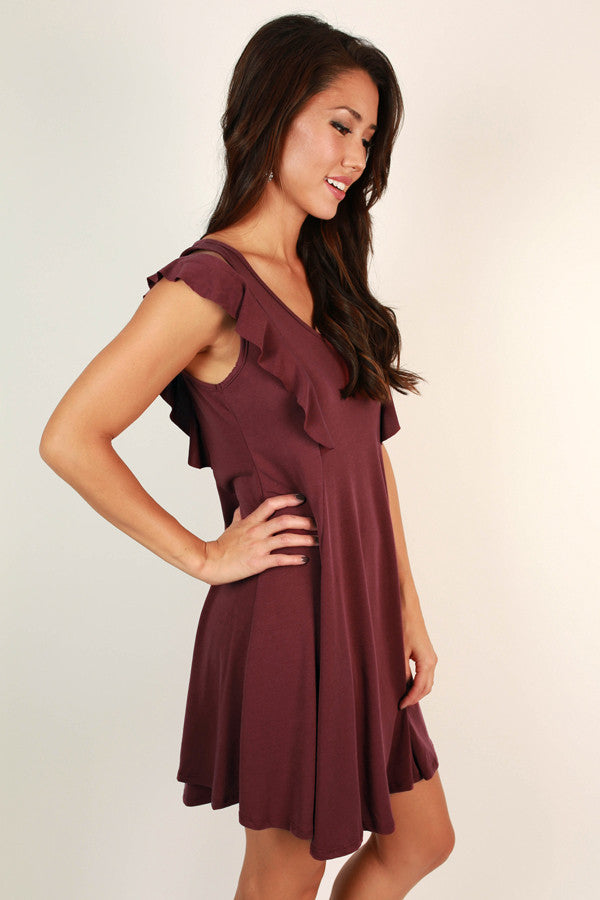 Sway With Me Dress in Wine