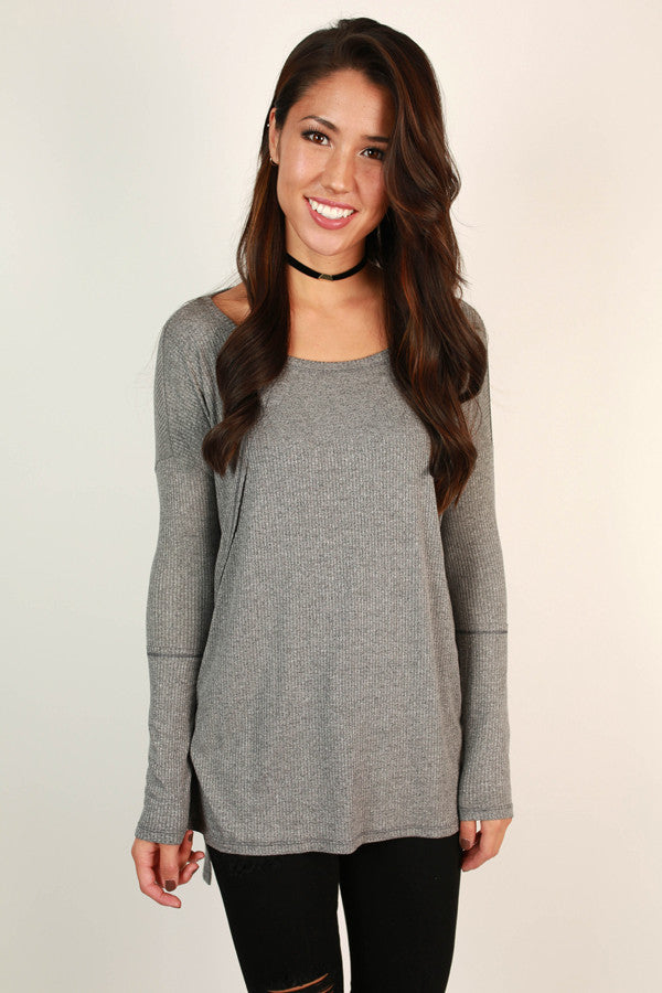 Stuck On You Tunic in Grey