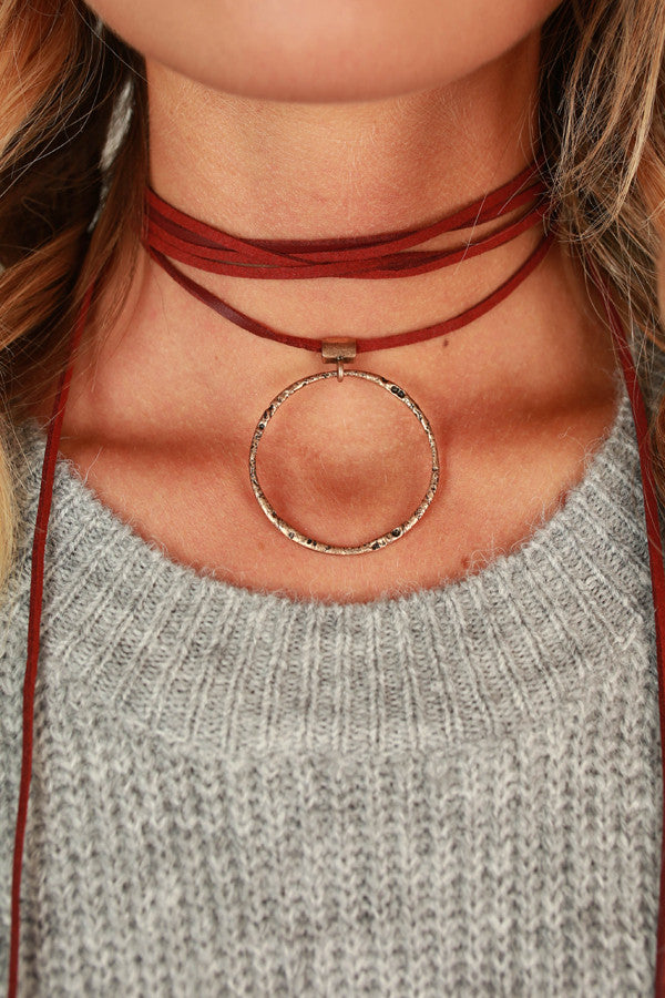 Call It Karma Choker in Wine