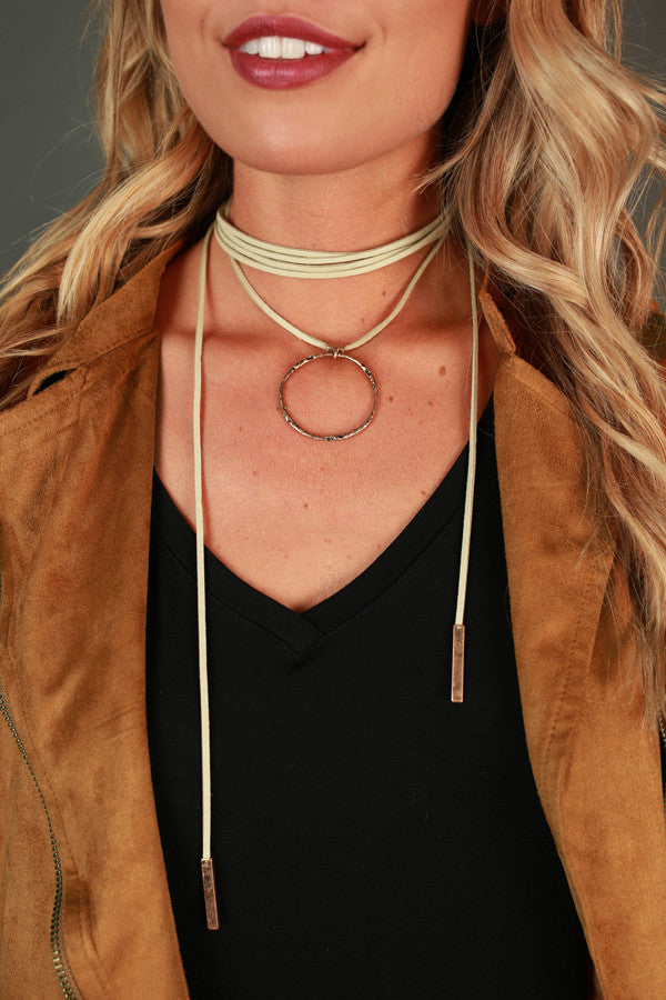 Call It Karma Choker in Stone