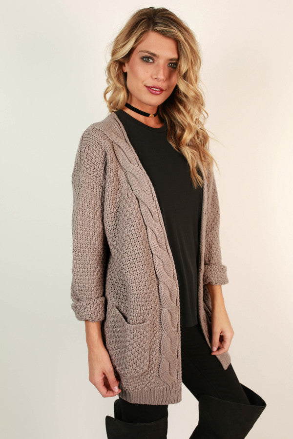 Cheers To Cozy Cardi in Light Lavender