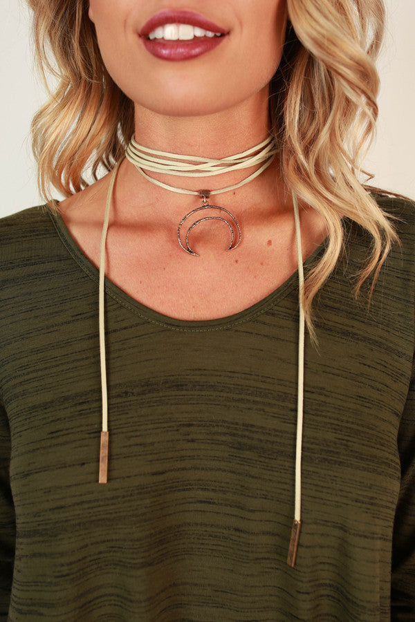 Midnight Moonlight Choker in Stone