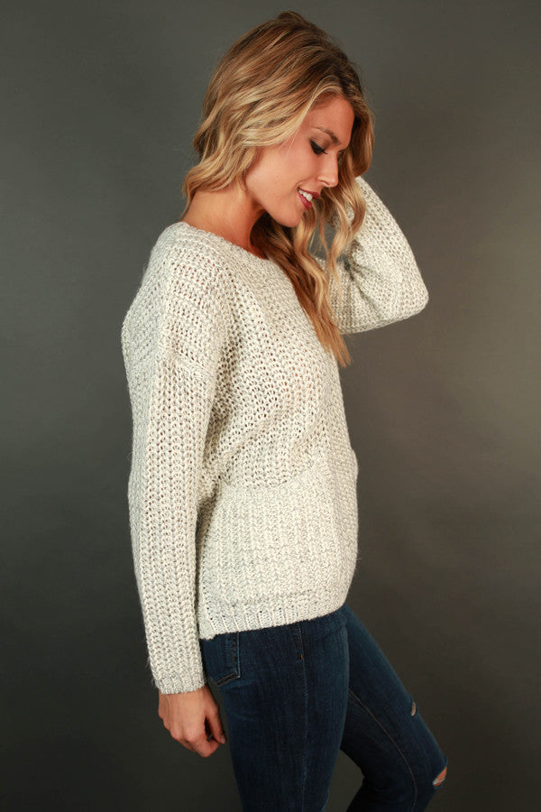 Bundled Up And Beautiful Sweater in Ivory