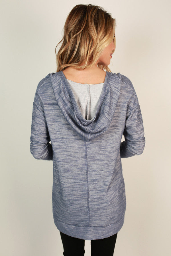 Snuggles And Smores Tunic Hoodie Periwinkle