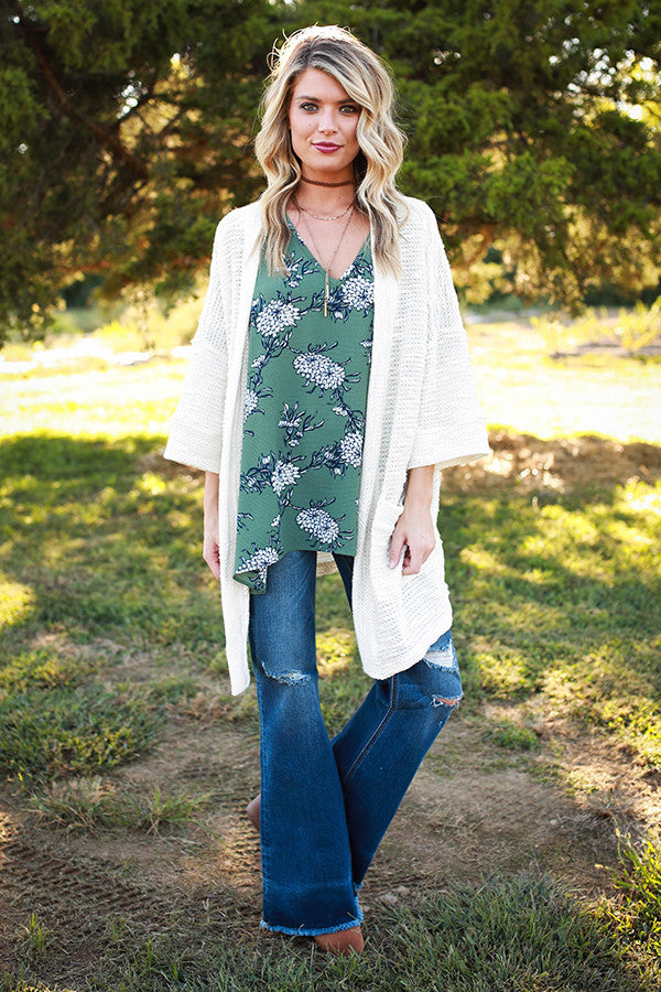 You're Getting Warmer Cardigan in Ivory