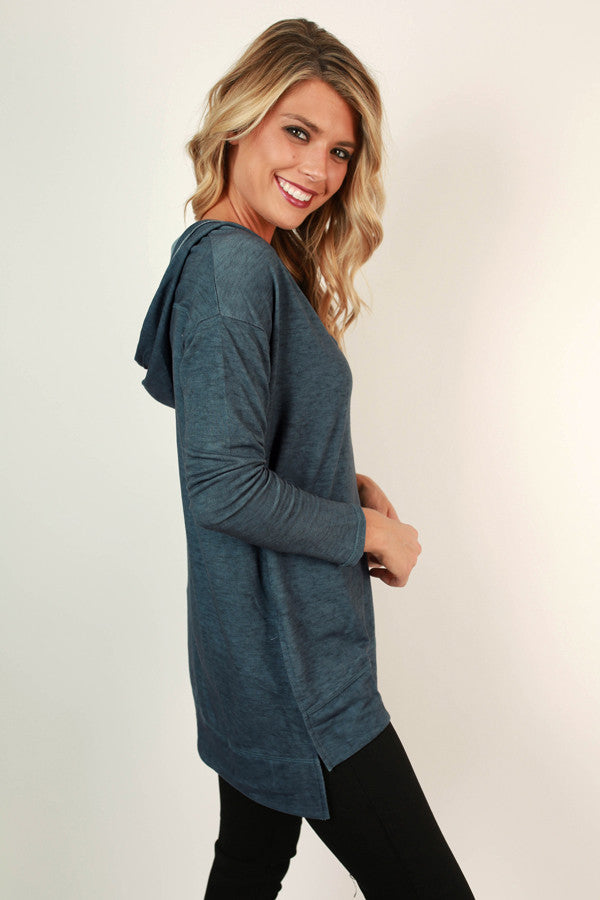 I'm All Yours Tunic Hoodie in Riverside