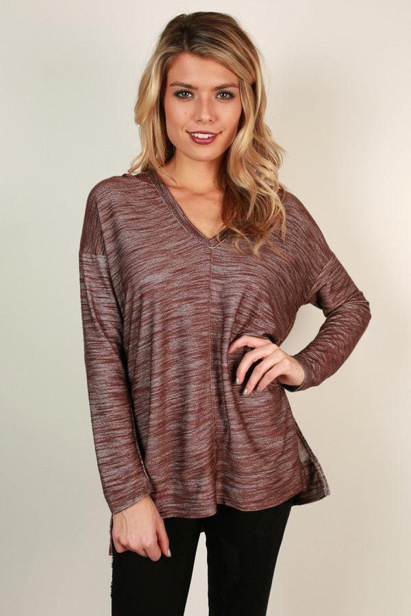 Snuggles And Smores Tunic Hoodie in Rustic Rose