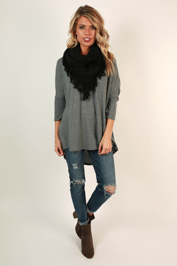 Cozy Chic Infinity Scarf in Black