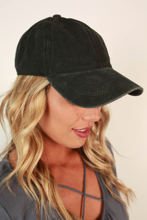 Faded Favorite Hat in Black