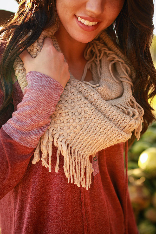 Cozy Chic Infinity Scarf in Beige