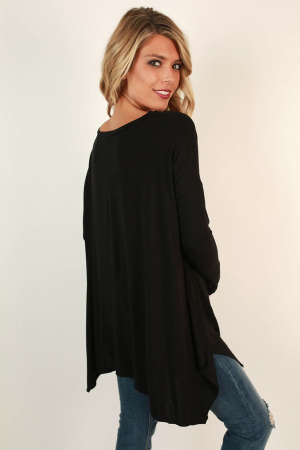 After My Own Heart Shift Top in Black