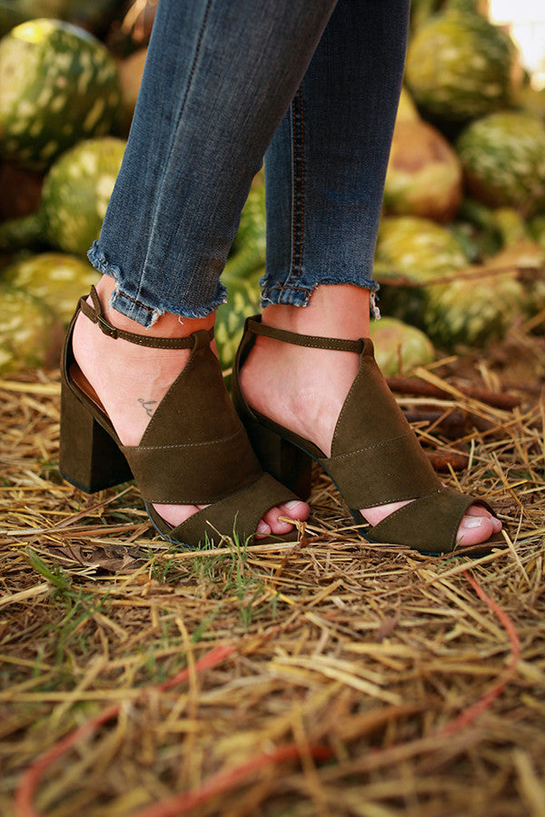 Bon Voyage Heel in Army Green