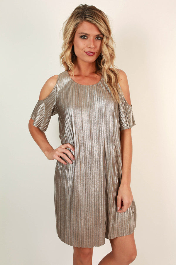 Shooting Star Shift Dress in Champagne