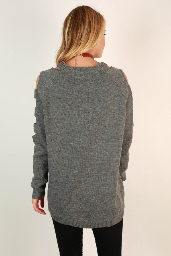 Sass & Spice Tunic Sweater in Fog