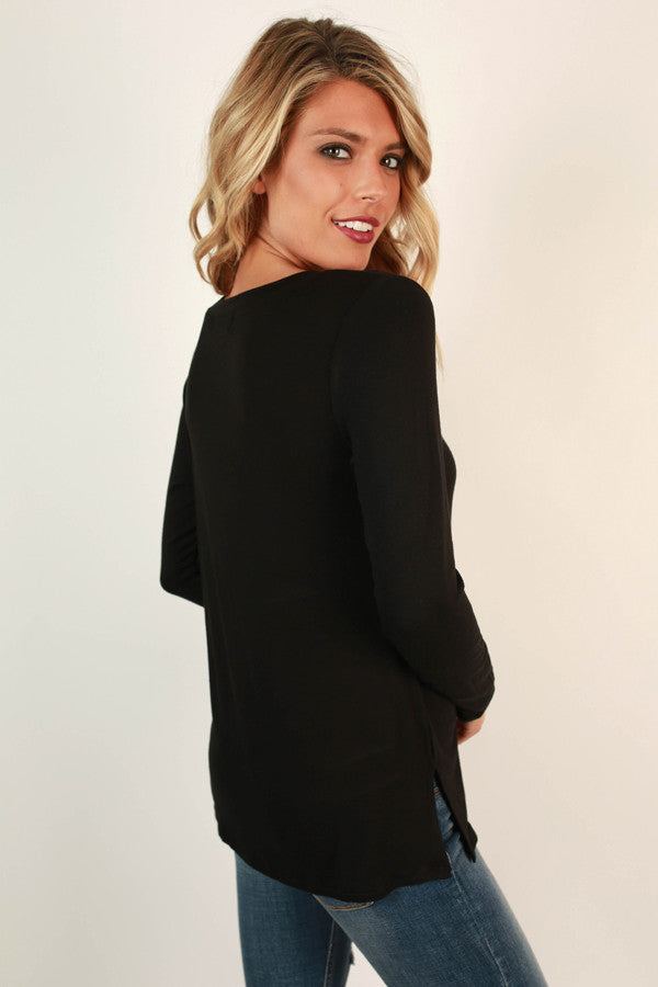 Adventurous Soul Criss Cross Top in Black