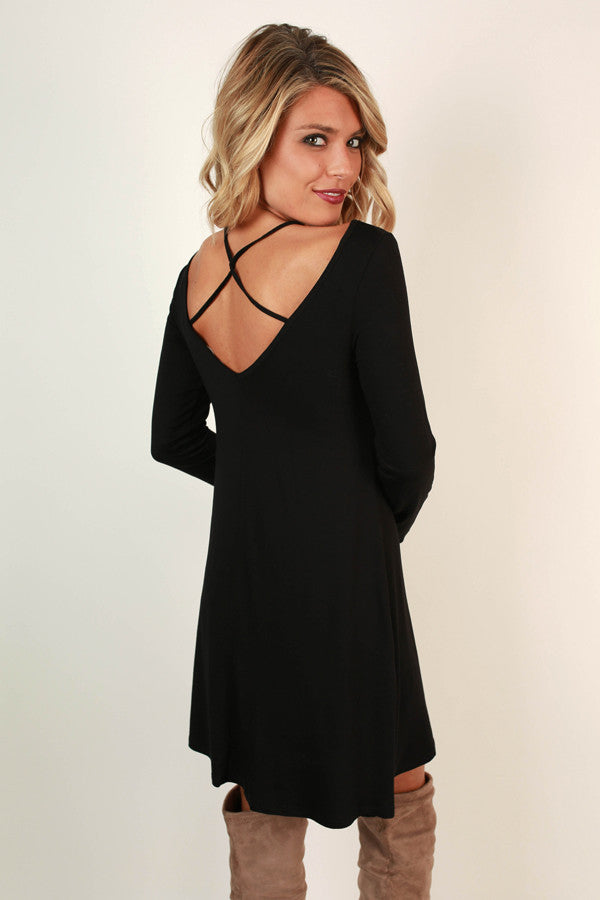 Keeping Promises Criss Cross Mini in Black