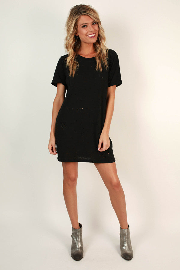 Holy Chic Shift Dress in Black