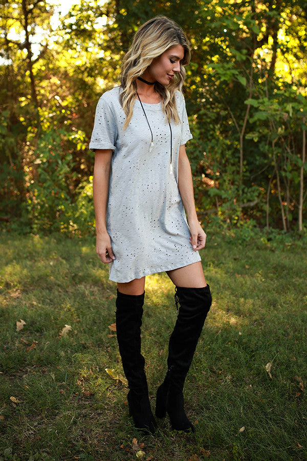 Holy Chic Shift Dress in Grey