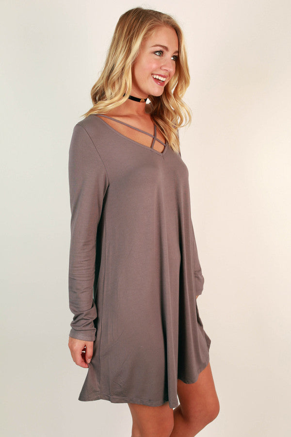 LA Night Life Shift Dress in Hazelnut