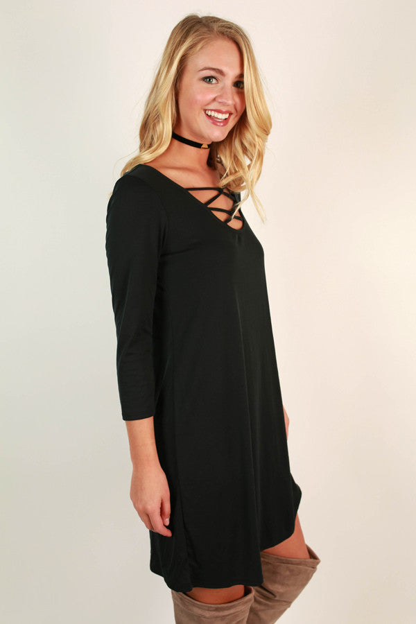 Hung Up On Hollywood Shift Dress in Black