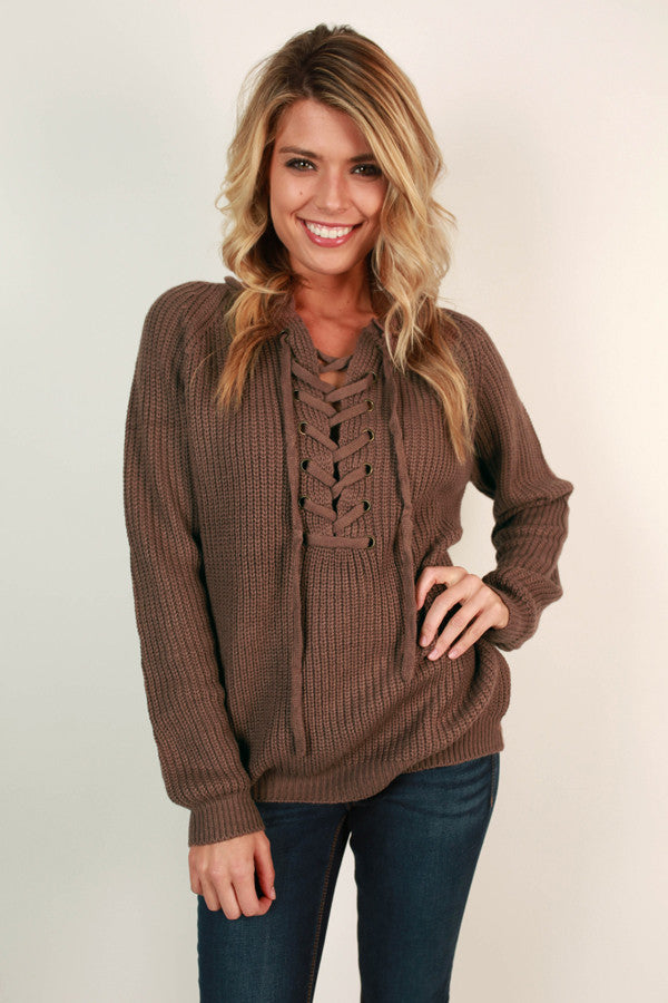 Easy Like Sunday Morning Sweater in Hazelnut