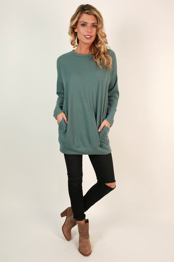 Pocket To Me Pretty Tunic in Light Lush Meadow