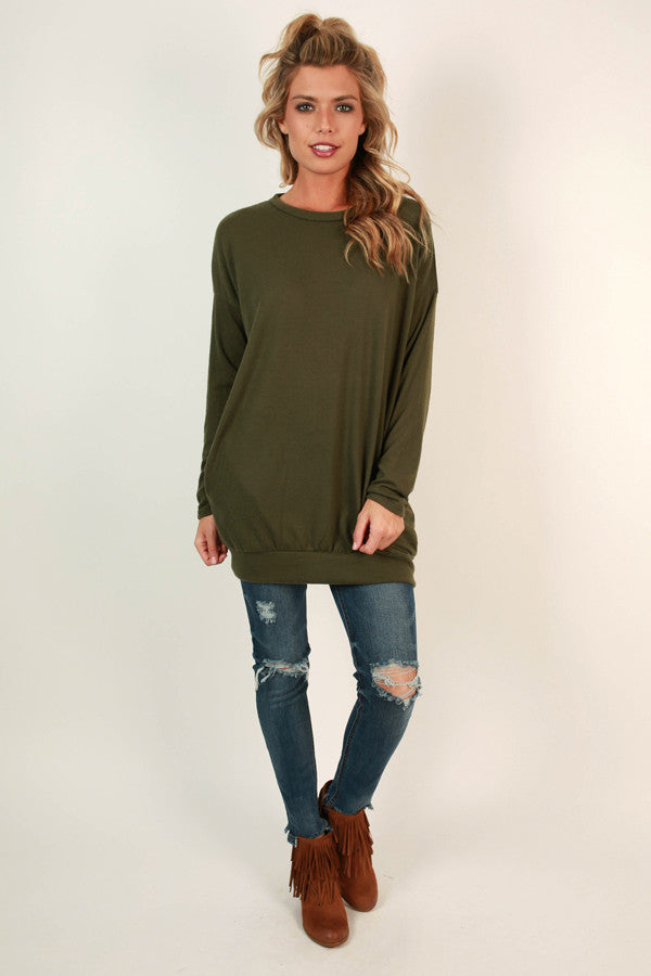 Pocket To Me Pretty Tunic in Army Green