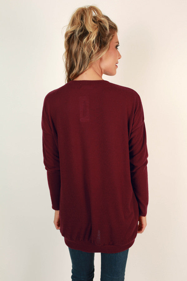 Pocket To Me Pretty Tunic in Crimson