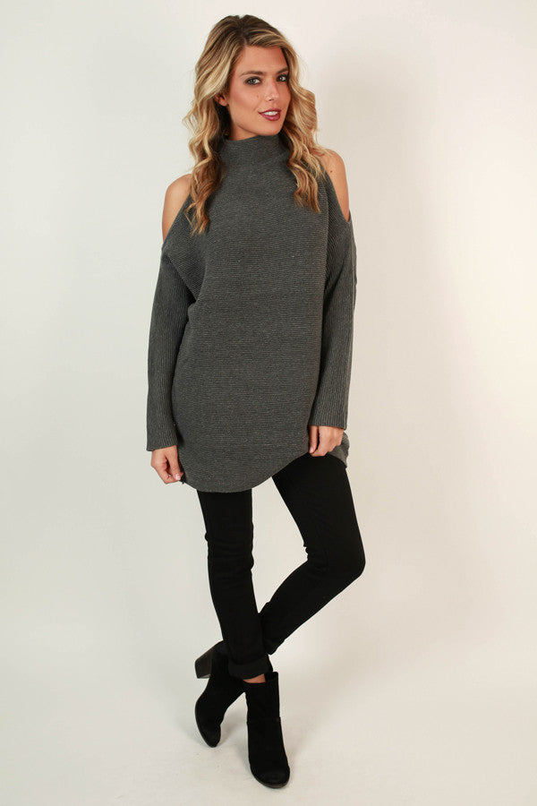 Colorado Cozy Cold Shoulder Tunic Sweater