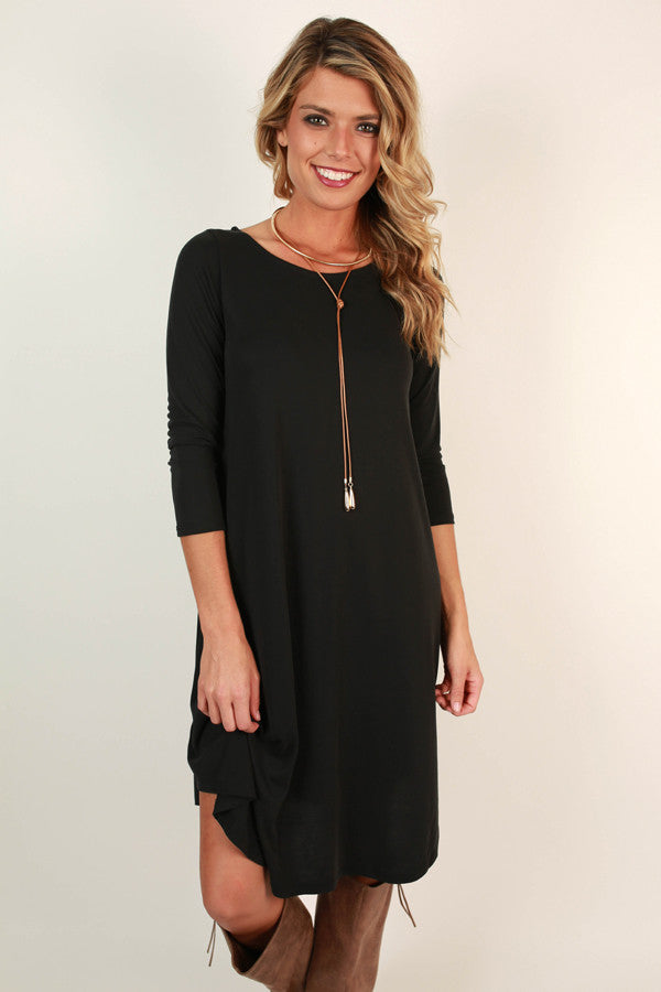 Cider and Celebrations Shift Dress in Black