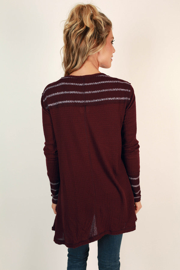 Kisses & Stripes Thermal Tunic