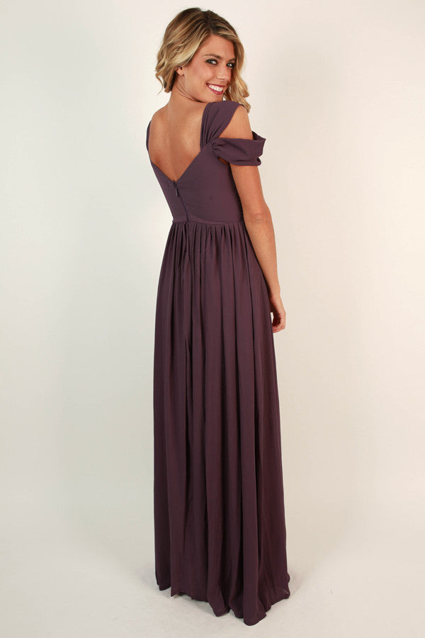 Napa Valley Outing Maxi Dress in Purple