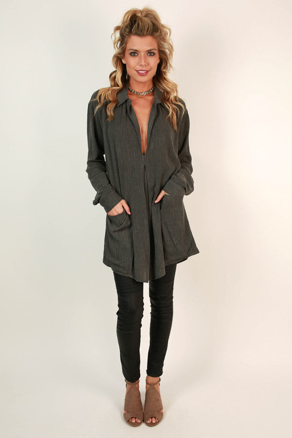Winter Park Weekend Pocket Tunic in Fog