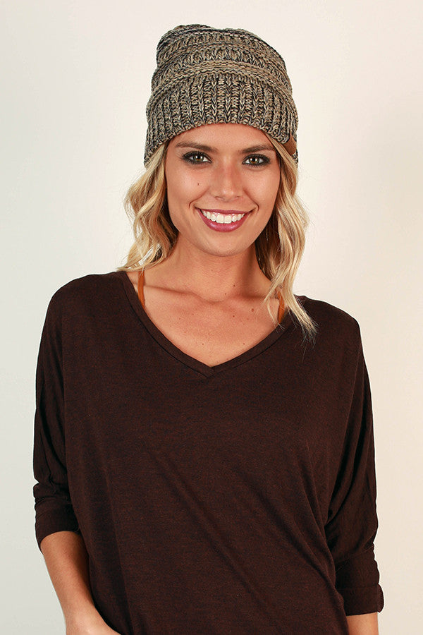 Beanie Beautiful in Stone Blend
