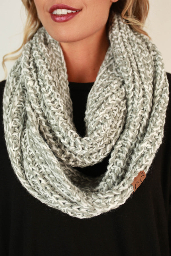 Simply Beautiful Infinity Scarf in Grey