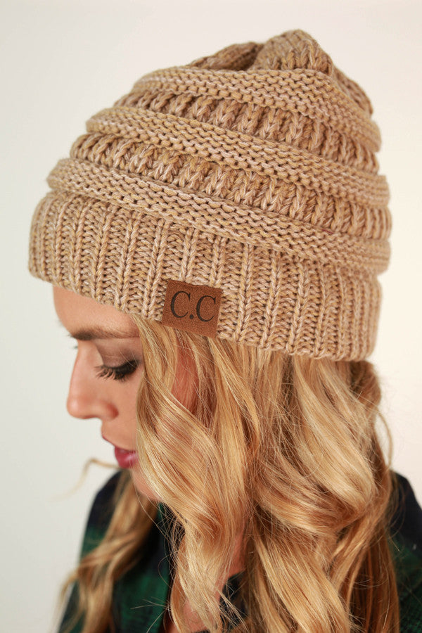 Beanie Beautiful in Beige Blend