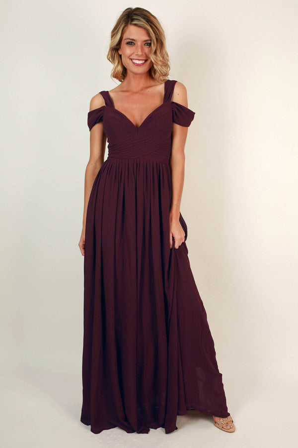 Napa Valley Outing Maxi Dress in Windsor Wine