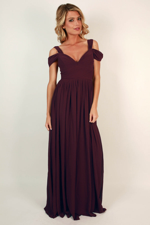 24e3ce1236f12 Napa Valley Outing Maxi Dress in Windsor Wine • Impressions Online Boutique