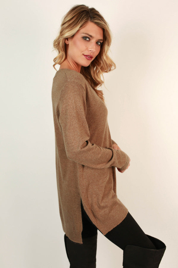 Bonfire Beauty Sweater in Mocha