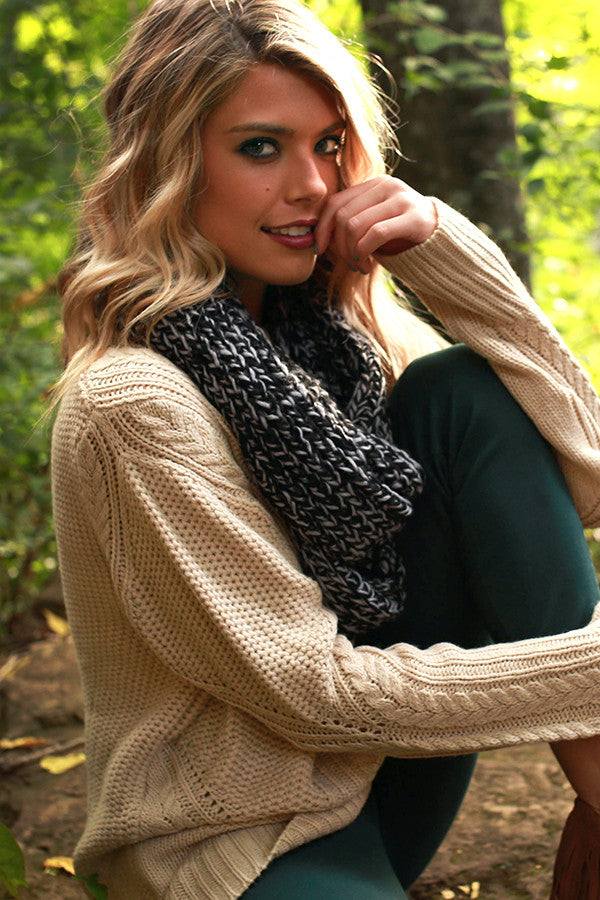 Simply Beautiful Infinity Scarf in Black