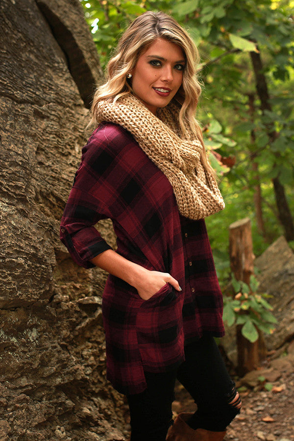Plaid It To Me Tunic