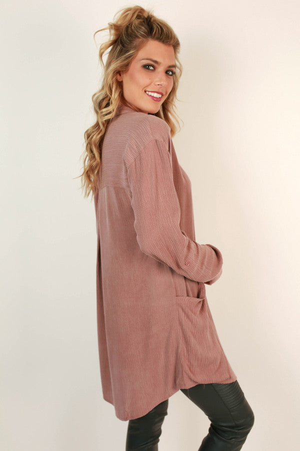 Winter Park Weekend Pocket Tunic in Blush