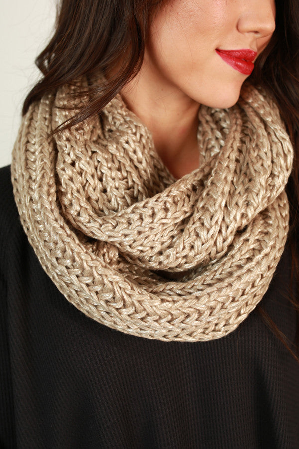 To Infinity And Beyond Scarf In Champagne