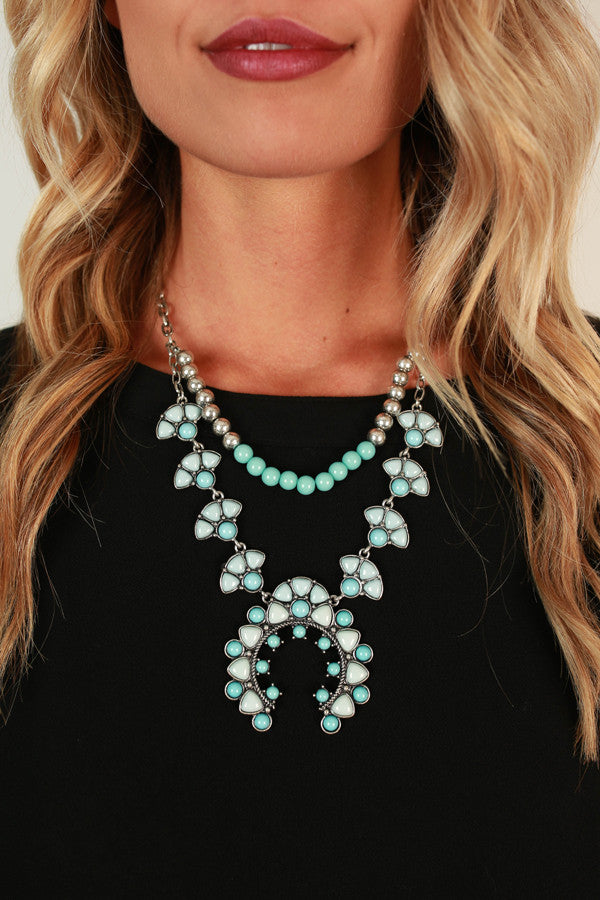 Weekend Ready Necklace in Aqua