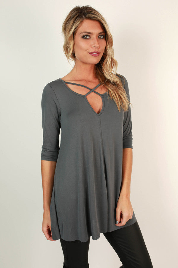 Time Tells All Criss Cross Tunic