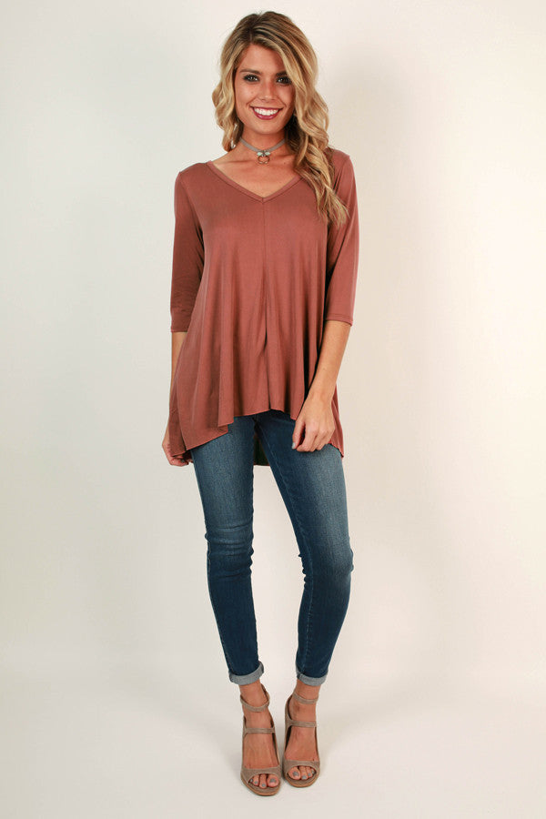 Coffeehouse Crush Cut Out Top