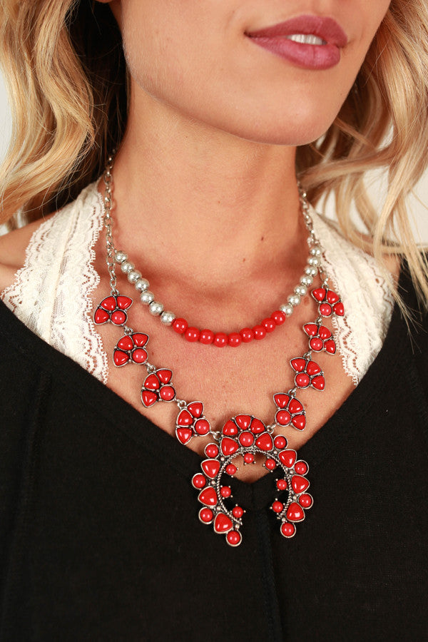 Weekend Ready Necklace in Red