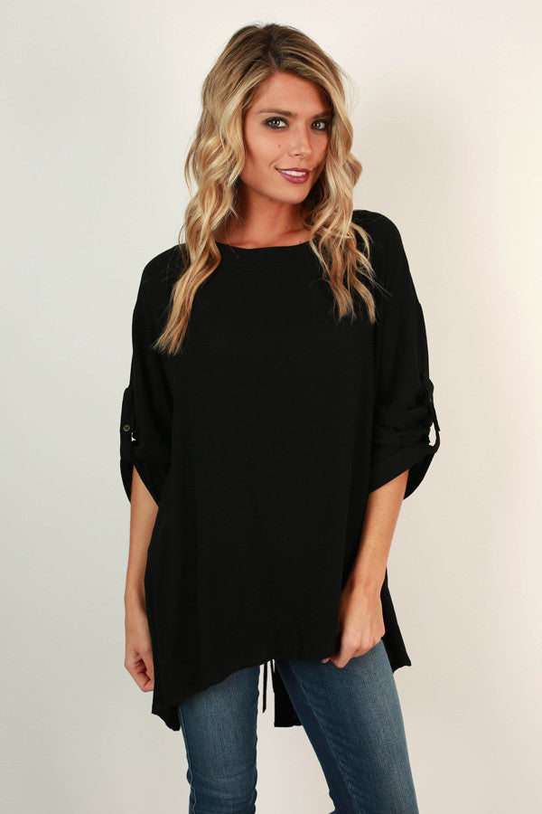 Fall's First Kiss Tunic In Black