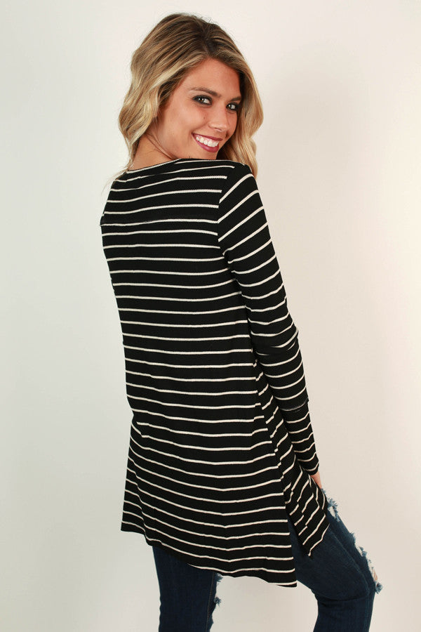 Napa Stripe Thermal Pocket Tunic